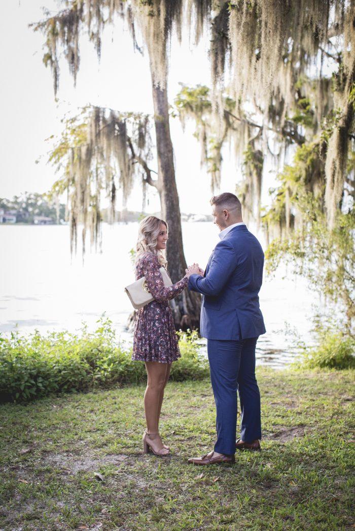 Carley's Proposal in Kraft Azalea Garden, Winter Park, FLorida