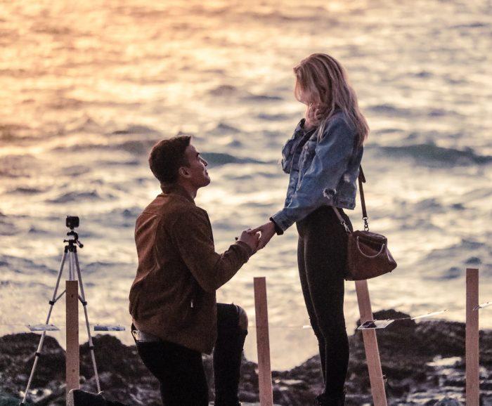 Marriage Proposal Ideas in tablerock beach, laguna CA