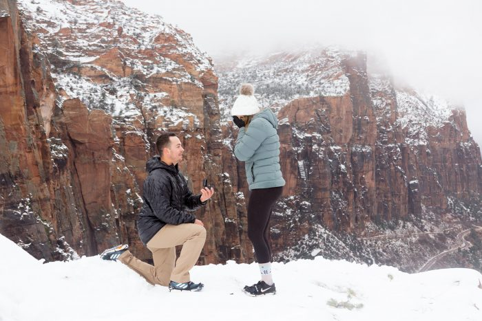 Sage and Chris's Engagement in Zion National Park, UT