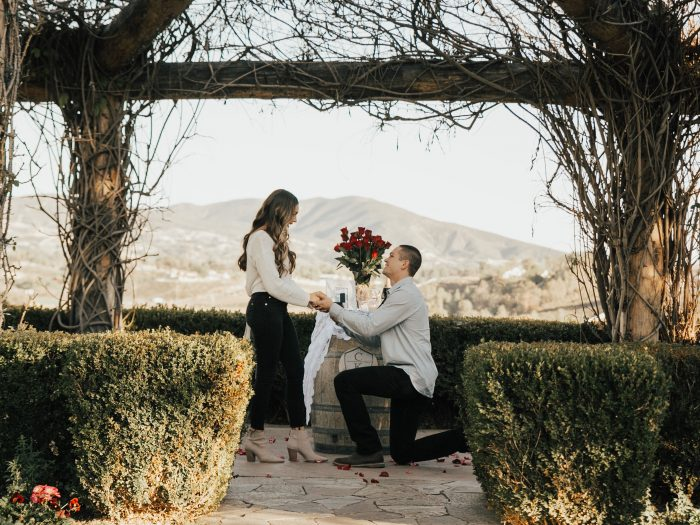 Kendall's Proposal in South Coast Winery, Temecula, CA