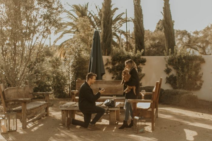 Lacey's Proposal in Topa Mountain Winery