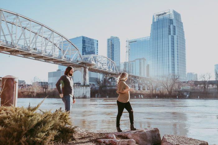 Wedding Proposal Ideas in Riverfront Park, Nashville, TN