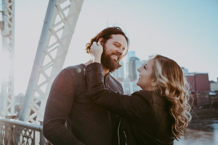 Anna's Proposal in Riverfront Park, Nashville, TN