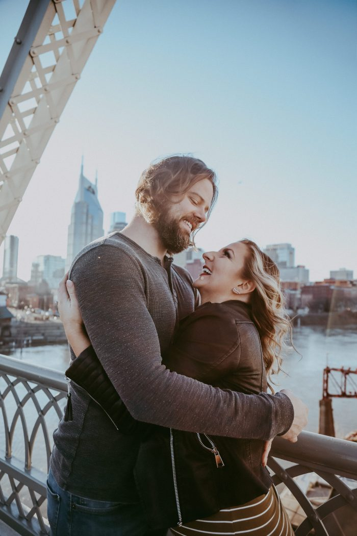 Anna and William's Engagement in Riverfront Park, Nashville, TN