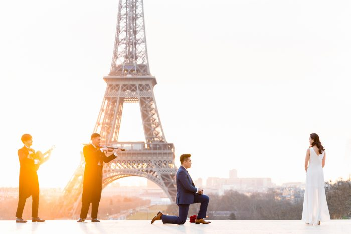Kevin Lo and Jane Ng's Engagement in Eiffel Tower, Paris