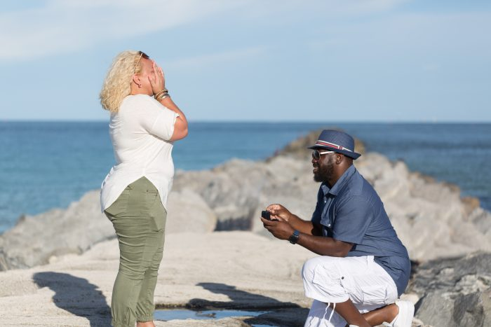 Engagement Proposal Ideas in Miami, South Point Park