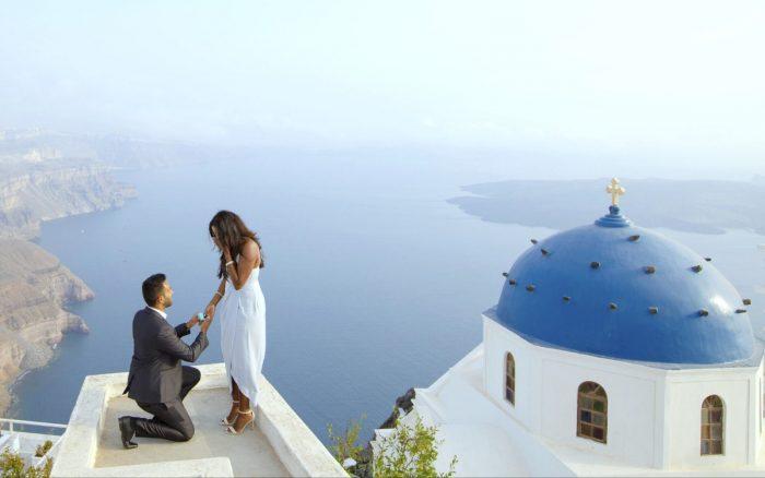 Marriage Proposal Ideas in santorini