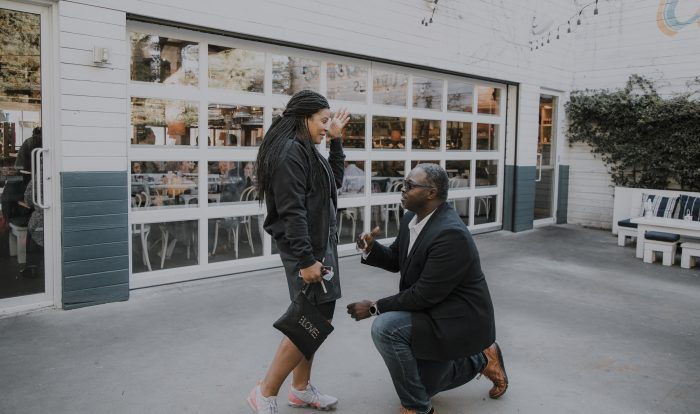 Wedding Proposal Ideas in Bartaco in mid-town ATLANTA