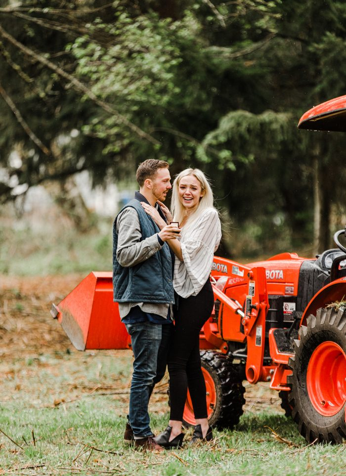 Anna and Connor's Engagement in At our property where we are going to build our first home