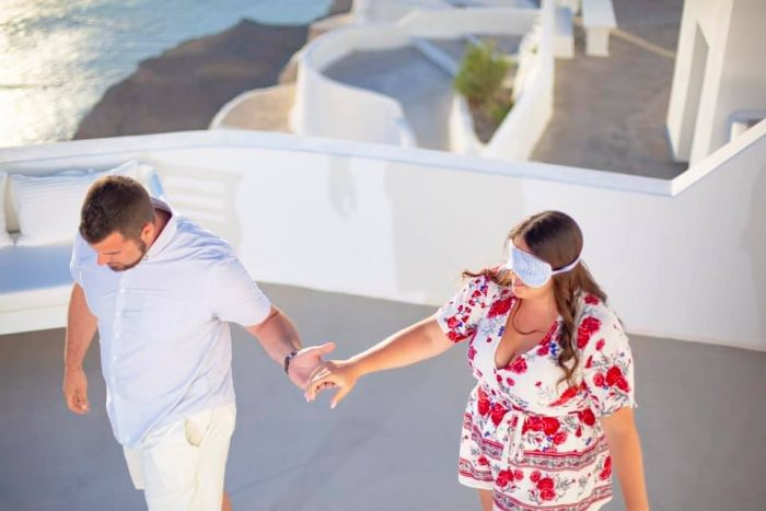 Alex's Proposal in Santorini, Greece