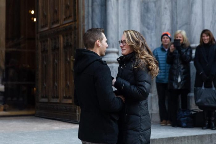 Morgan Debelle and Joseph's Engagement in St. Patrick's Cathedral, N.Y., N,Y,