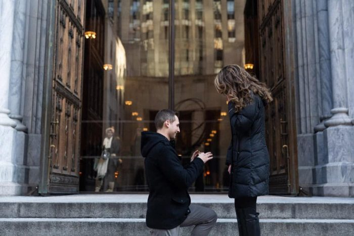 Morgan Debelle's Proposal in St. Patrick's Cathedral, N.Y., N,Y,