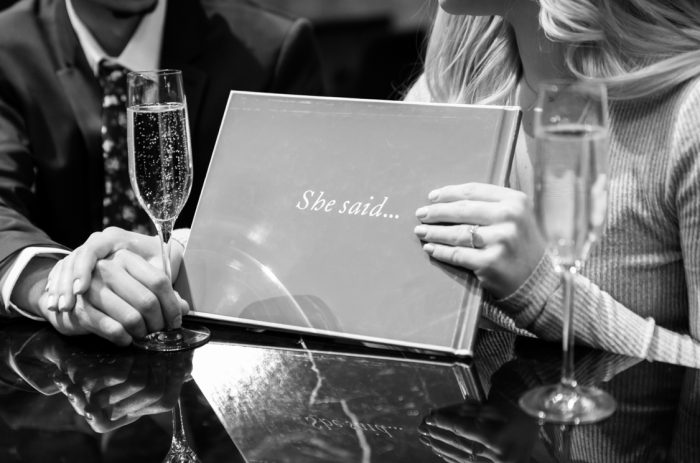 Engagement Proposal Ideas in London House Hotel Chicago, IL
