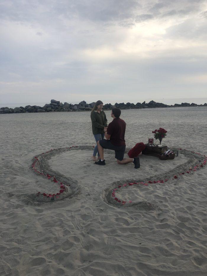 Wedding Proposal Ideas in Hotel Del beach