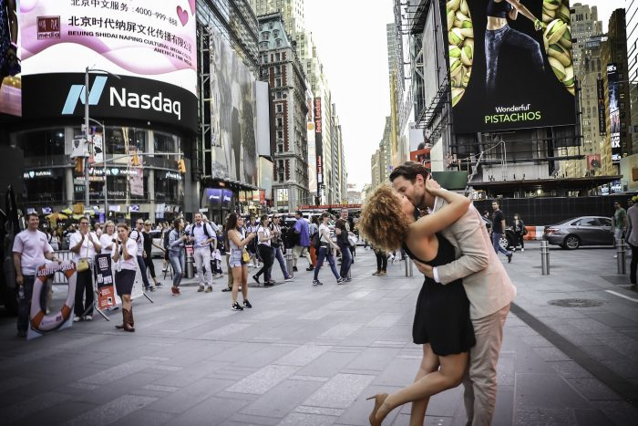 Engagement Proposal Ideas in Times Square, Manhattan