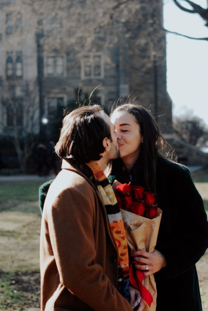 Wedding Proposal Ideas in Georgetown University Healy Hall