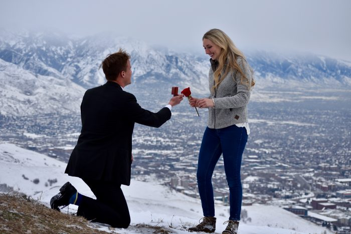 Engagement Proposal Ideas in On top of a mountain in Salt Lake City