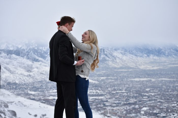 Proposal Ideas On top of a mountain in Salt Lake City