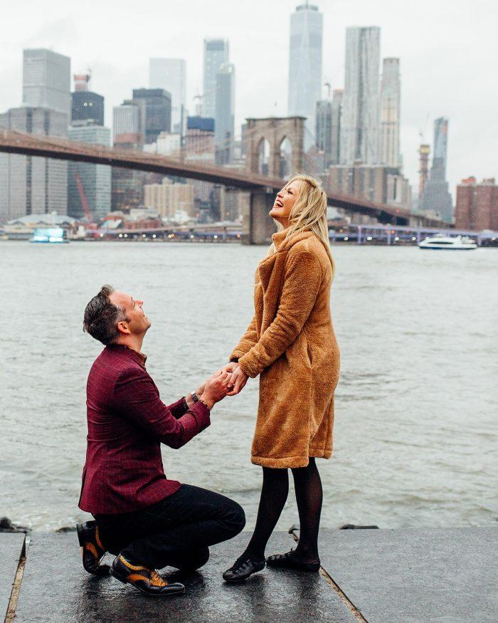 Engagement Proposal Ideas in Under Brooklyn Bridge, New York
