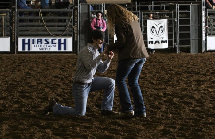 Marriage Proposal Ideas in Rodeo arena
