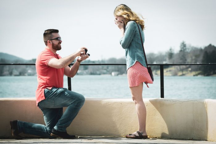 Casey and Petar's Engagement in Sparta Boardwalk