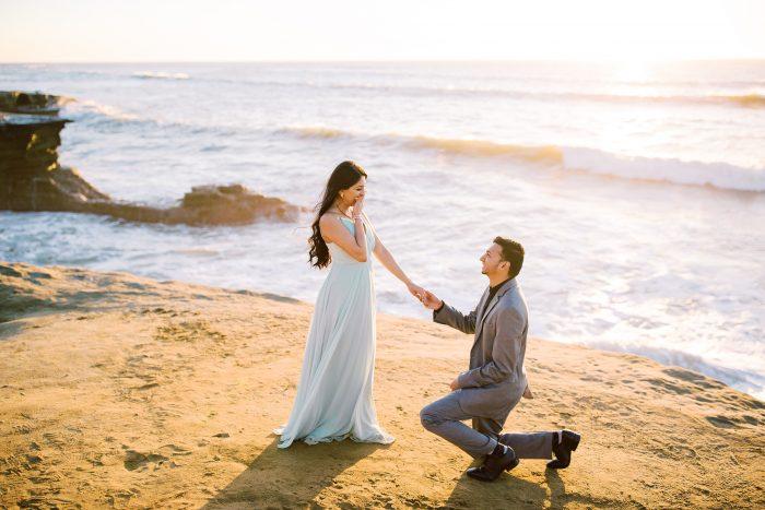 Kajal and Akshay's Engagement in Sunset Cliffs in San Diego, CA