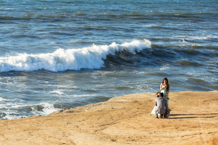 Where to Propose in Sunset Cliffs in San Diego, CA