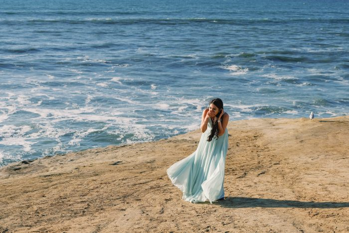 Marriage Proposal Ideas in Sunset Cliffs in San Diego, CA