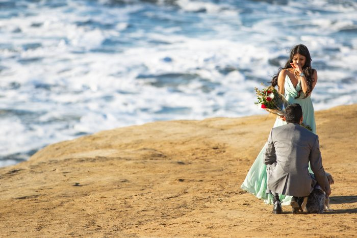Kajal's Proposal in Sunset Cliffs in San Diego, CA