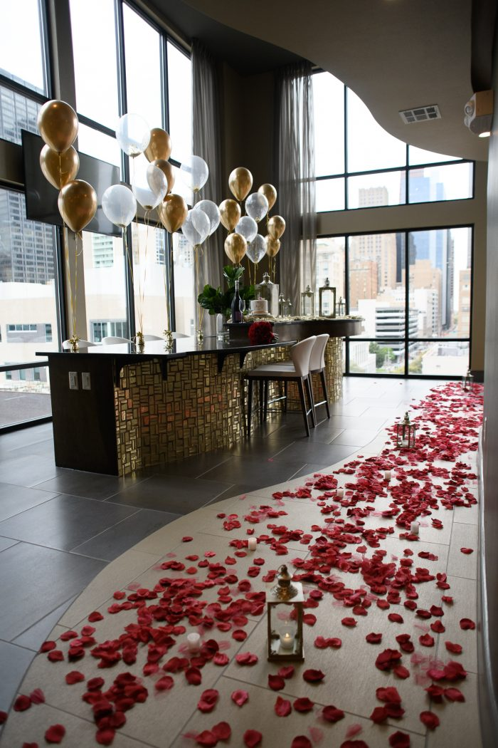 Engagement Proposal Ideas in Sky Lounge - Houston, TX
