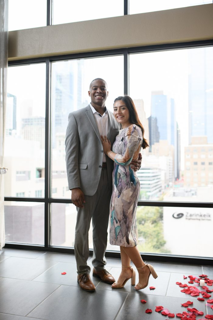 Jerrod and Kiley's Engagement in Sky Lounge - Houston, TX