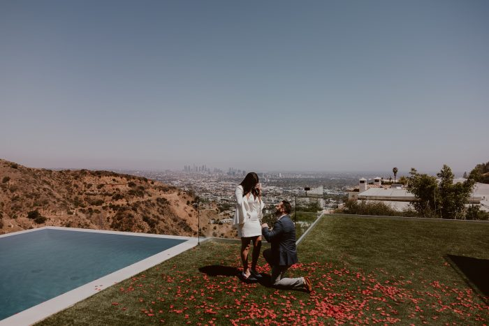 Josephine Amin and Aaron's Engagement in Home in Hollywood Hills