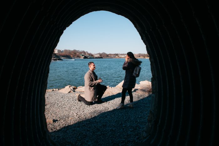 Christin and Alec's Engagement in Newport, Rhode Island - Cliff Walk