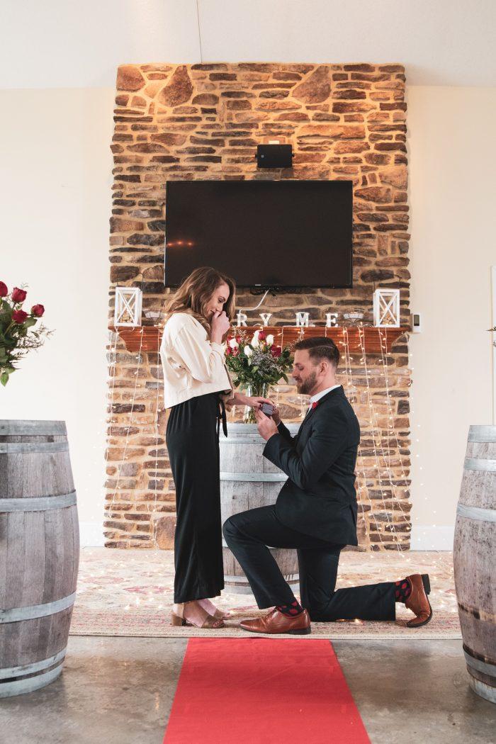 Meghan's Proposal in Buckeye Lake Winery