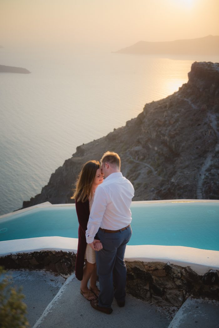 Engagement Proposal Ideas in Greece Santorini