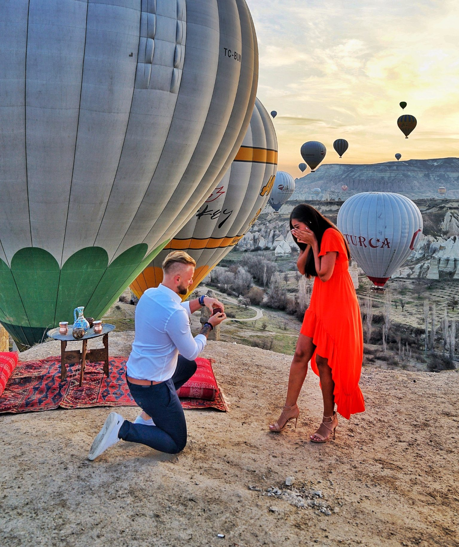 Wedding Proposal Ideas in Cappadocia turkey