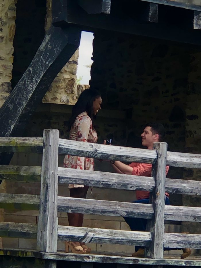 Jocelyn and Johnathan's Engagement in Alabama Shakespeare