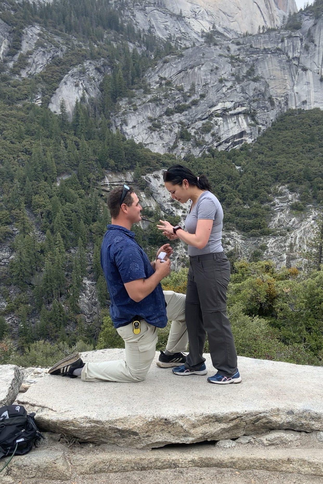 Where to Propose in Yosemite - half dome - John Muir trail