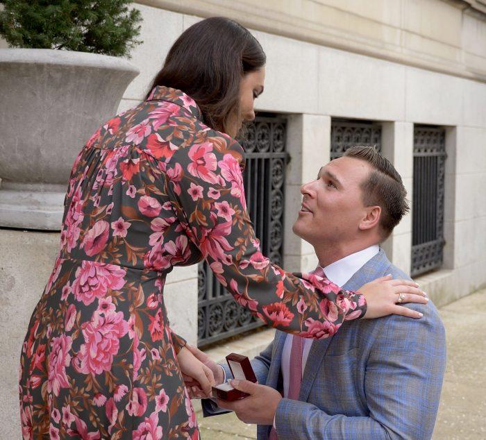 Mia's Proposal in Delancey Street, Rittenhouse, Philadelphia, PA