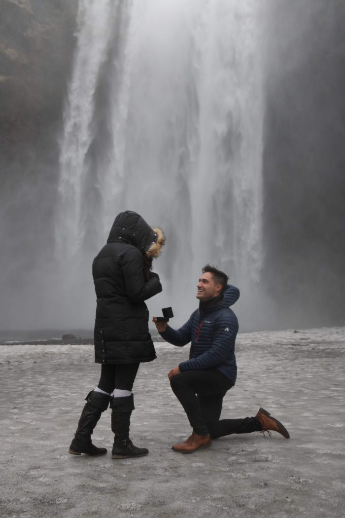Marriage Proposal Ideas in Skógafoss, Iceland