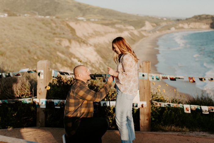 Wedding Proposal Ideas in Crystal Cove State Park