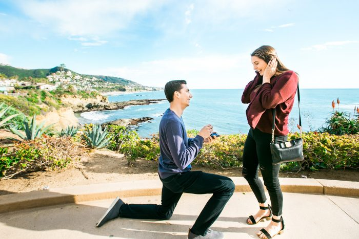 Allie and Tim's Engagement in Treasure Island Park, Laguna CA