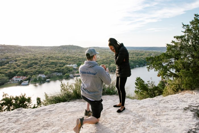 Marriage Proposal Ideas in Mount Bonnell Austin TX