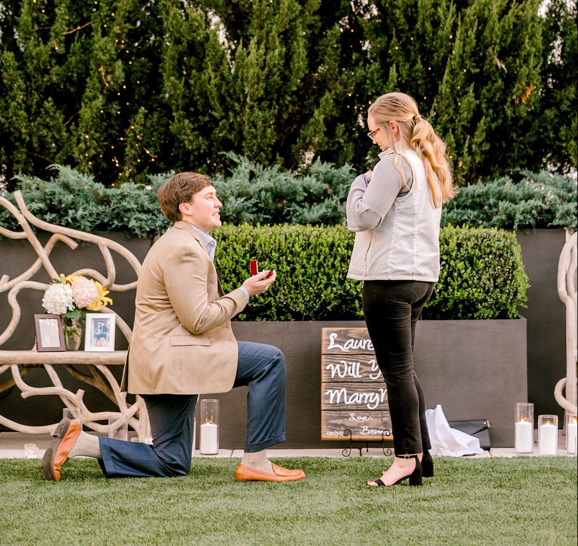 Wedding Proposal Ideas in Avenue Greenville, SC