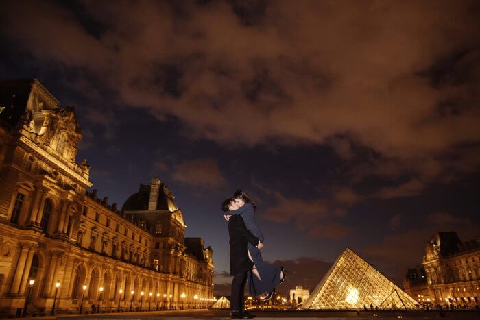 Song 's Proposal in Paris, France