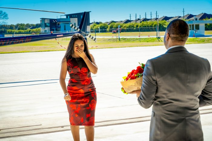 Briseida and Jameel's Engagement in West Houston Airport
