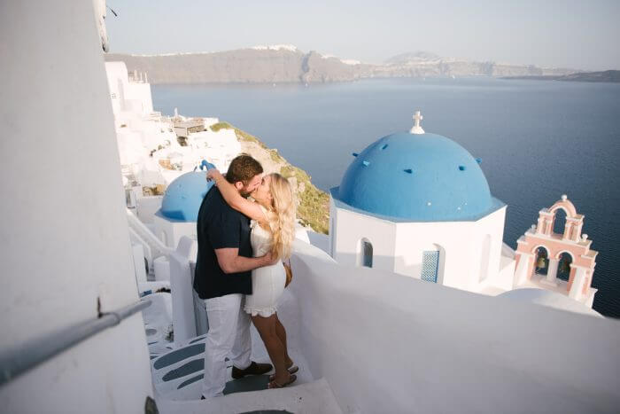Taylor and Tony's Engagement in Santorini, Greece