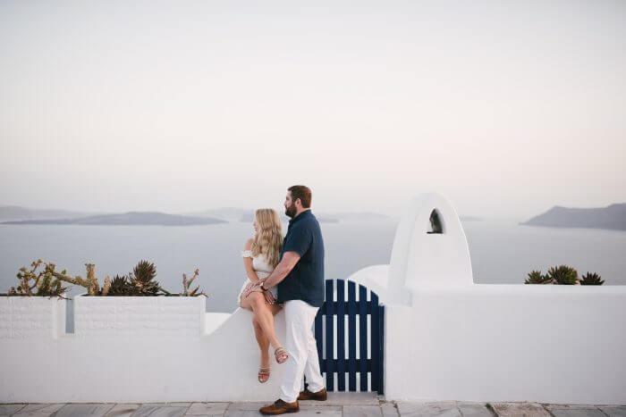 Taylor's Proposal in Santorini, Greece