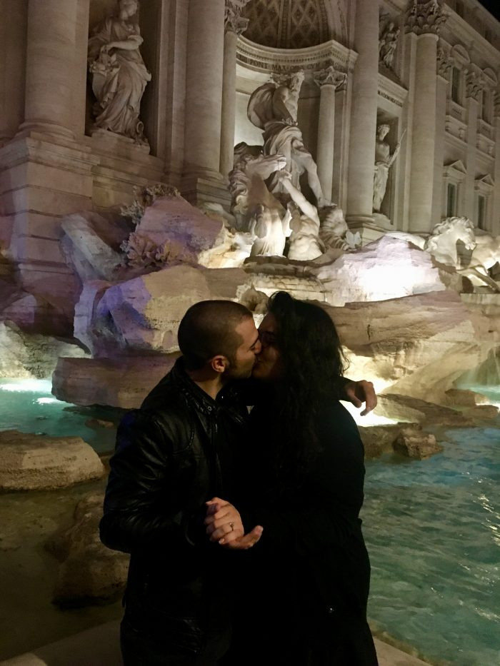 Marriage Proposal Ideas in Trevi Fountain - Rome