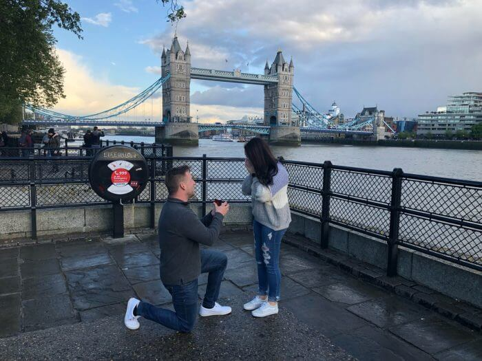 Angela's Proposal in Tower Bridge, London